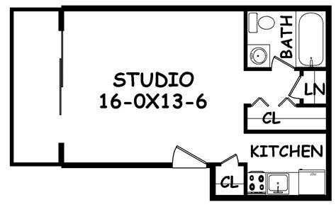 Garage Apt Floor Plans narrow studio apartment floor plans thefloors co