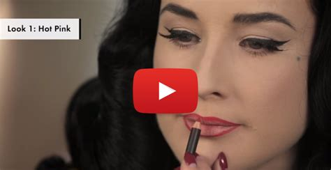 Cosmo Bedroom Blog watching dita von teese teach you the perfect way to apply