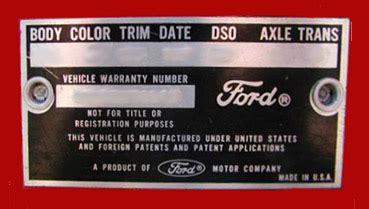 1965 mustang data plate decoder 1965 mustang data plate codes