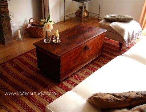 kp tienda vintage  baul de madera antiguo  mesa de centro  wooden trunk