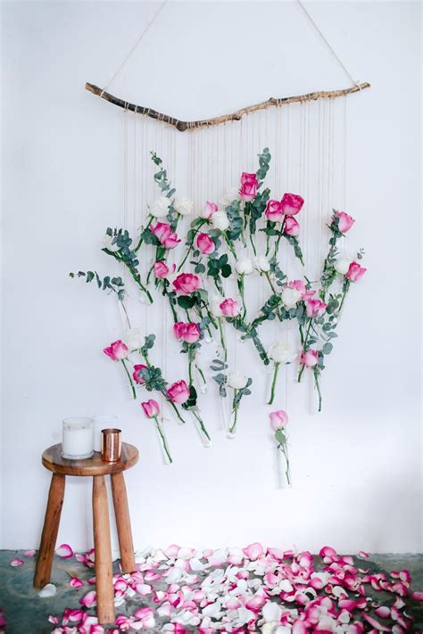 diy decorations hanging diy floral vase wall hanging using and eucalyptus wall hangings and floral