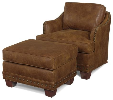 wood and leather ottoman ottoman wood leather removable leg traditional