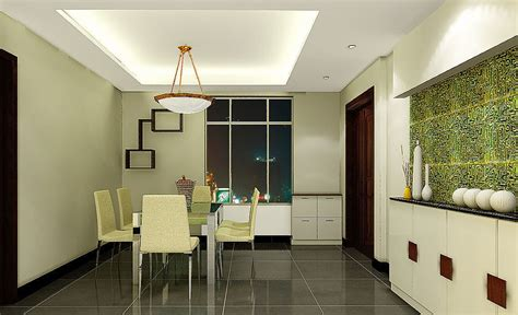 modern minimalist dining room interior design with