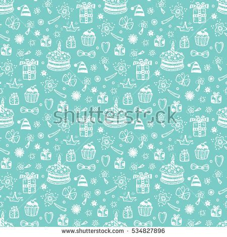 pattern party ideas birthday seamless pattern hand drawn doodle stock vector