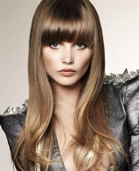 photo gallery of long hairstyles round face no bangs
