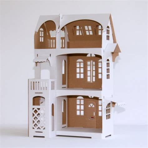 cardboard doll house minimalist cardboard dollhouse lets your kid be a designer kidsomania