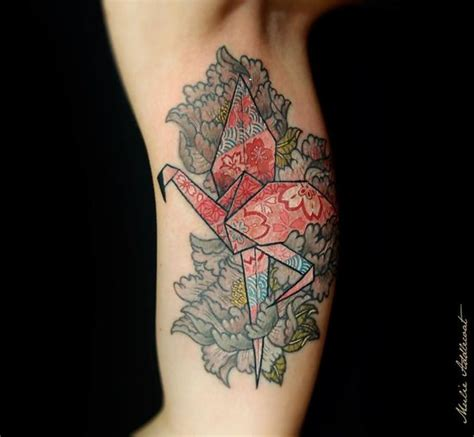 Origami Tattoos - 30 astonishing origami designs amazing ideas