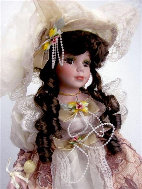 porcelain doll with collectible porcelain doll quot quot 16 quot h