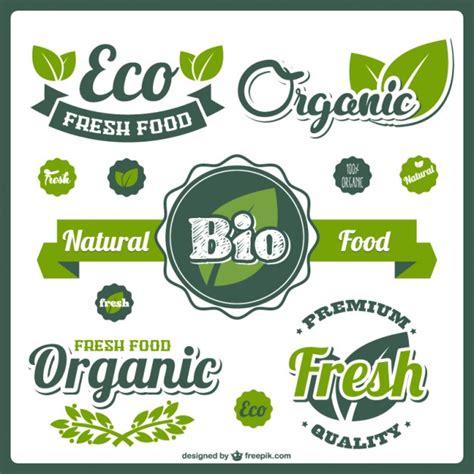 food label design eps bio fresh food labels vector free download
