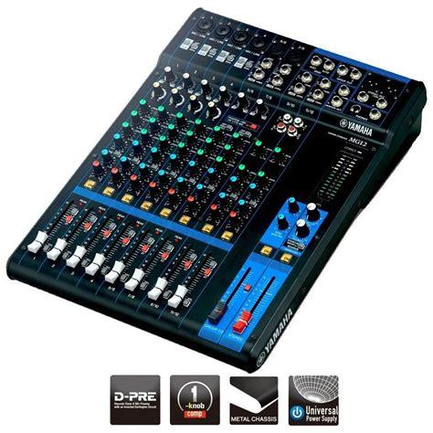 console musicale mezcladora yamaha mg12 de 12 canales electr 243 nica teran