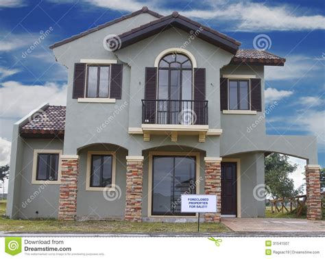 blue house real estate house foreclosure stock image image of housing marketing