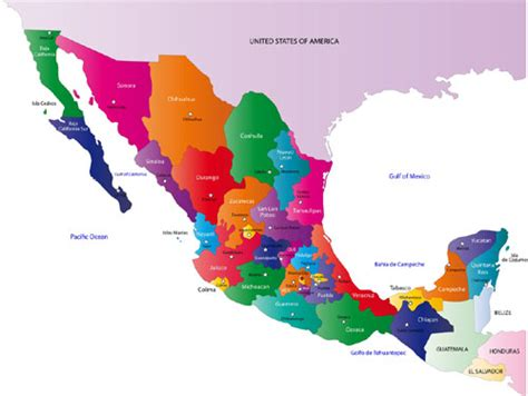 regional map of mexico map of mexico political geography map of mexico regional