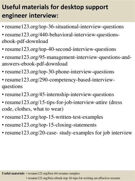 top 8 desktop support engineer resume sles