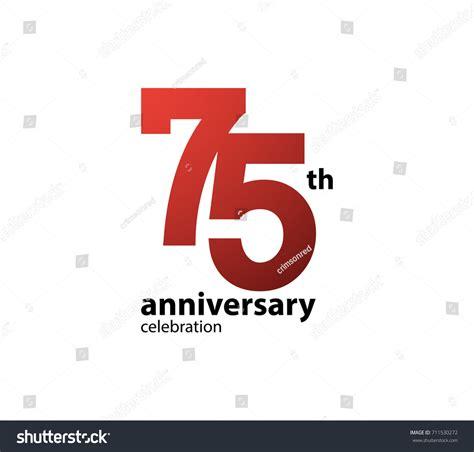 75th wedding anniversary symbol 75th anniversary celebration logotype anniversary logo
