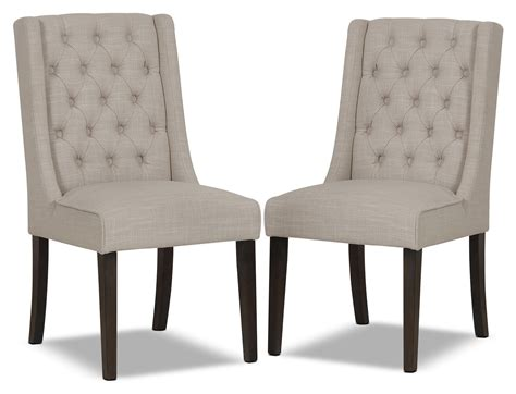 The Brick Dining Room Chairs Caroline Wing Chair Set Of 2 Ivory The Brick