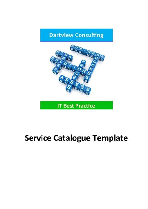 it service catalog template itil service catalogue template