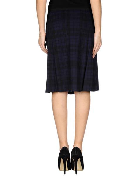 jil sander navy knee length skirt in blue blue lyst