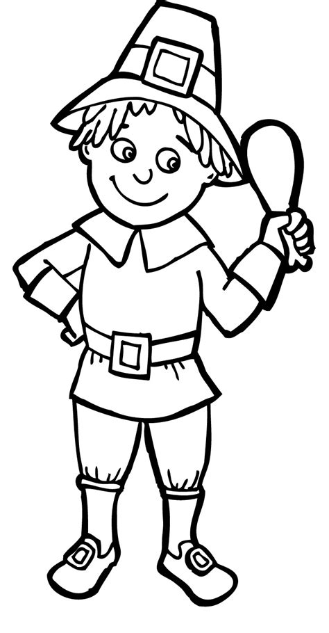 pilgrim village coloring page 94 pilgrim boys and girls coloring page color online