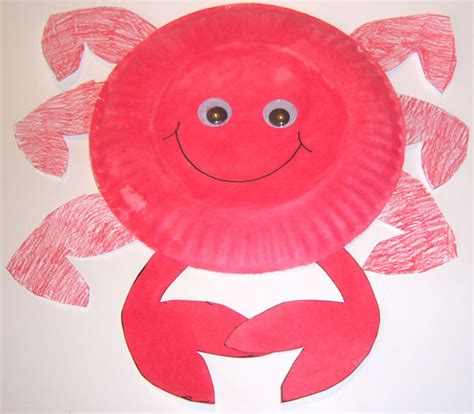 Crab Paper Plate Craft - crab plate craft