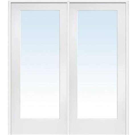 72 Inch Closet Doors Milliken Millwork 72 In X 80 In Classic Clear Glass 1 Lite Composite Prehung Interior