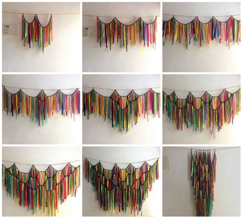 fabric strip curtains diy waste fabric curtain that can become a dress bored panda
