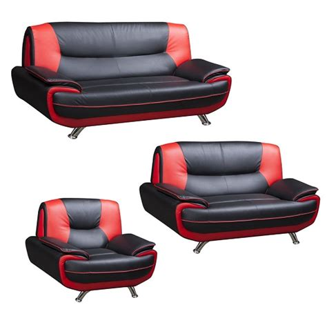 red and black sectional sofa claton modern 2 seater sofa in red and black faux leather