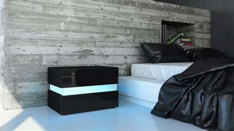 nachttisch kommode schwarz nachttisch nachtkonsole kommode flow in wei 223 oder schwarz