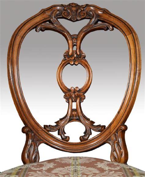 set   victorian walnut dining room chairs