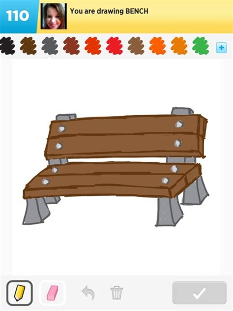 how to draw a bench bench drawings how to draw bench in draw something the