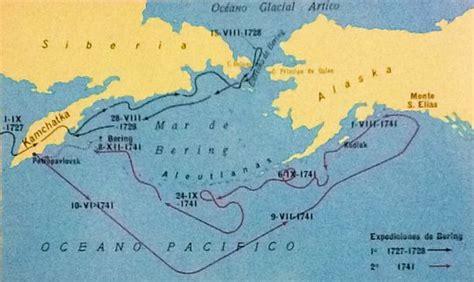 mapa del estrecho de bering vitus bering futuro pasado