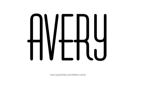 avery name tattoo designs