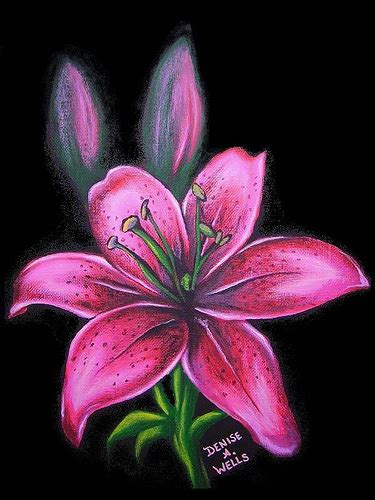 pink lily by denise a wells acrylic painting i just