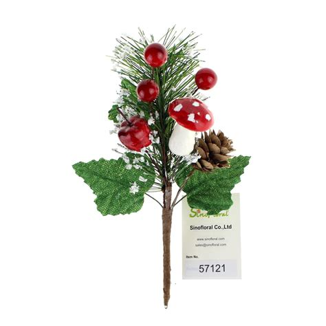 christmas picks with berries wholesale