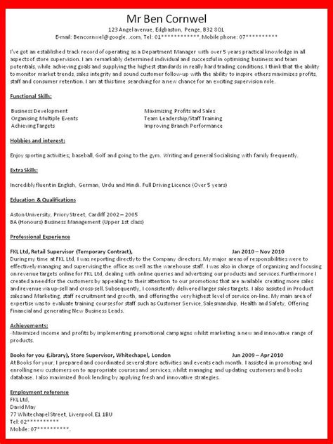 Cv Writting by Curriculum Vitae How To Write Curriculum Vitae For