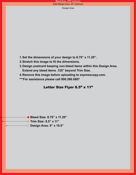 letter size brochure template flyer brochure print specifications expresscopy