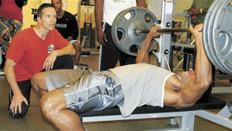 bill goldberg bench press pumping iron men the suffolk news herald