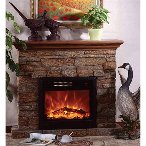 product unifire electric vent free fireplace with mantel