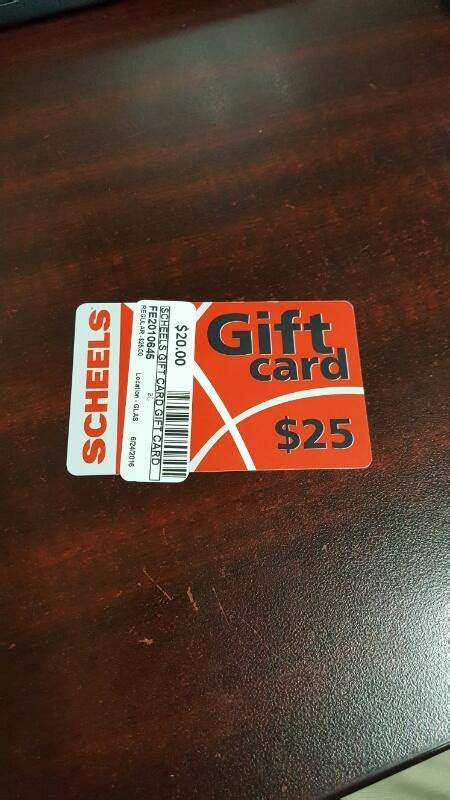 Scheels Gift Card Balance - scheels gift card 25 card in hand ready to ship like new buya