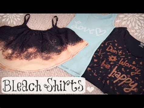 diy bleach shirt upcycle  shirts