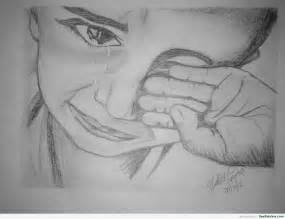 pencil sketch of a crying child desipainters com