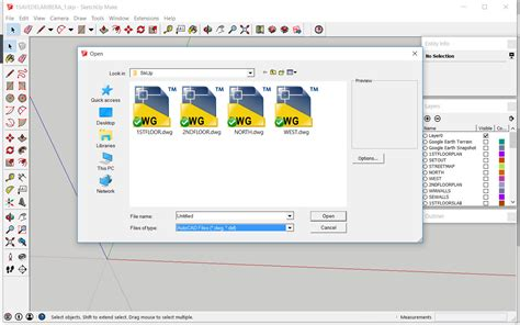 format file sketchup autocad files can t be found in the file type selection