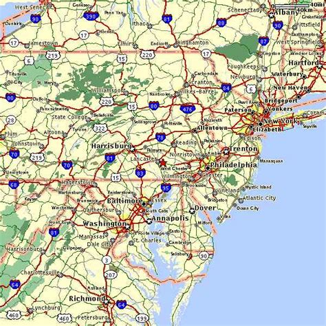 eastern us map northeast us road map images