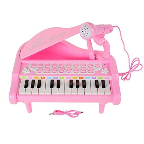 Sale Mainan Musical Keyboard Pink baoli piano keyboard 24 pink electronic musical multifunctional instruments with