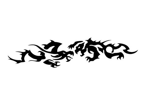 tribal bands tattoo designs awesome black ink tribal dragons armband design