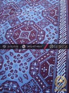 Kain Batik Cap Garutan Biru Tua jual kain batik cap tulis motif ubin buketan biru thebatik co id