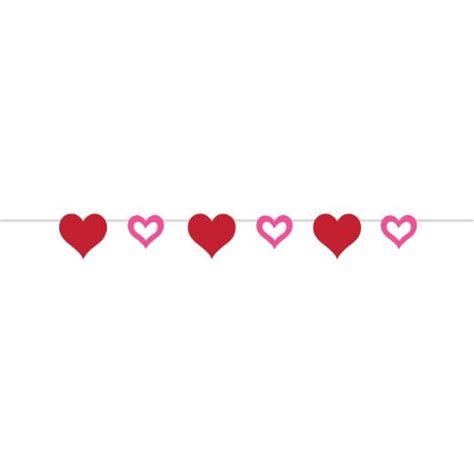 Jlo Hearts Valentines Day Delivery Date by Pink Hearts Ribbon Banner Non Stop Shop
