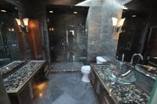 River Rock Bathroom Ideas by Bathrooms Spas And Stone Tile Showers Contemporary