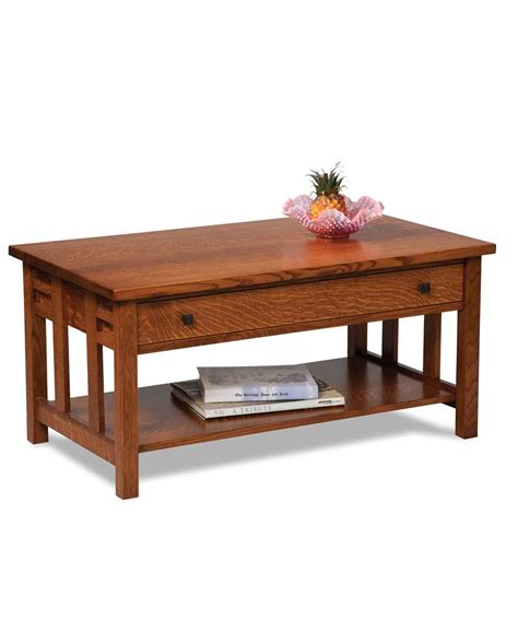 kascade open coffee table with drawer amish direct furniture