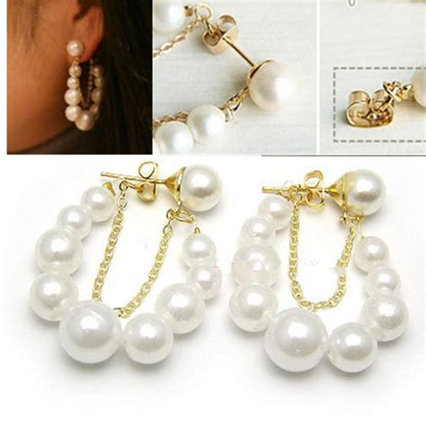 Necklace Korea Pearl Sturt 2015 korean fashion jewelry white pearl earrings ear stud earrings woau ebay