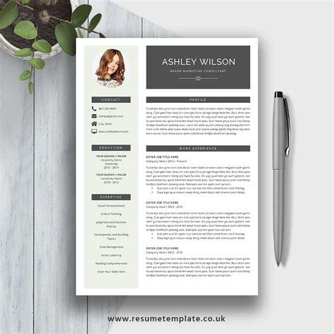 resume template cv template the ashley roberts resume simple resume template the ashley resume creative cv